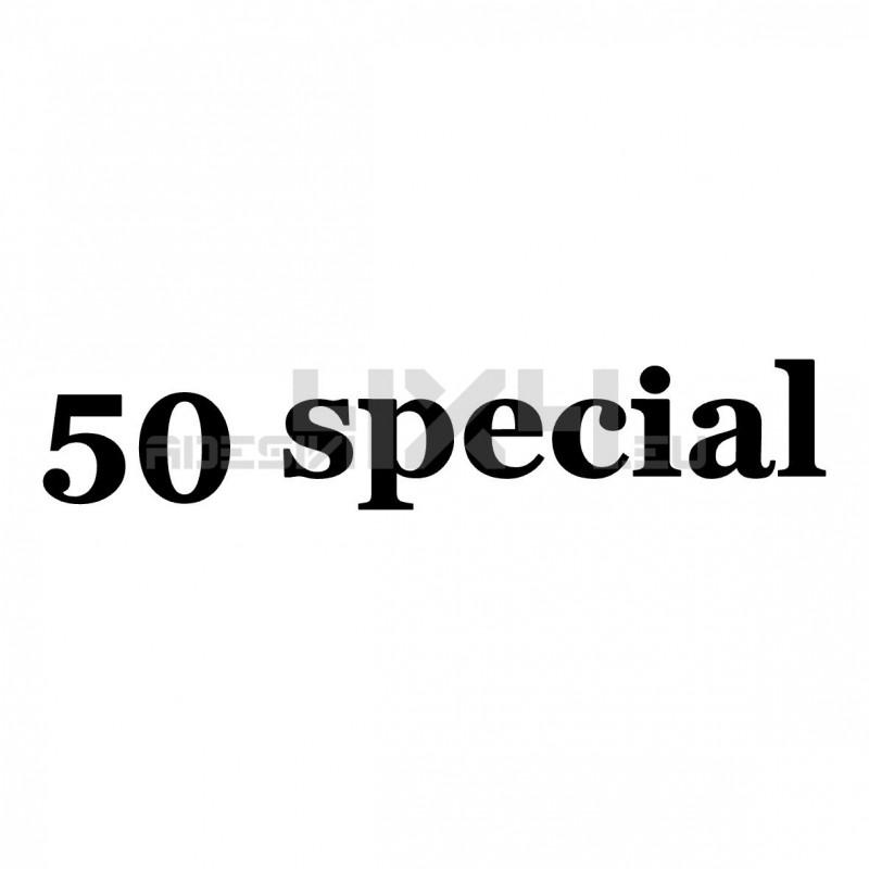 Adesivo scritta 50 special