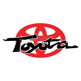 Adesivo logo scritta TOYOTA