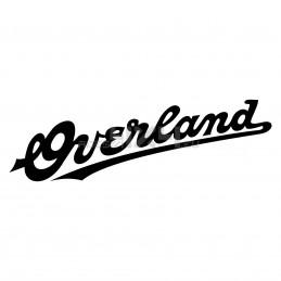 Adesivo scritta overland