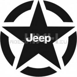 Adesivo stella us army Jeep v2 40x40cm