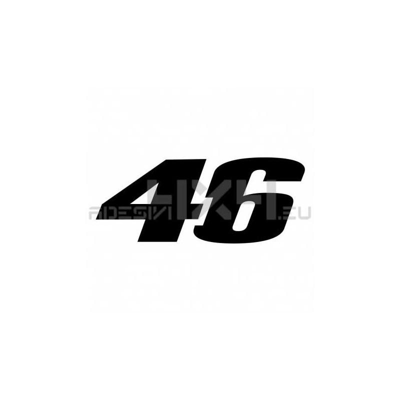 Adesivo numero 46 Valentino Rossi