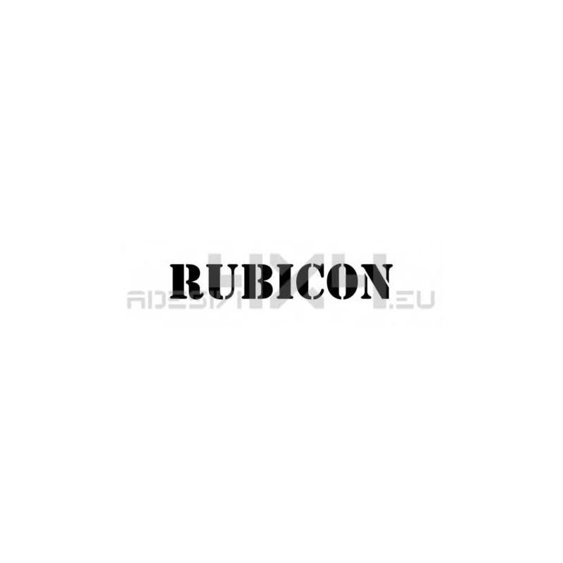 Adesivo jeep scritta RUBICON