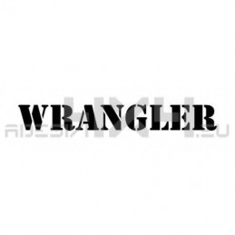 Adesivo jeep scritta WRANGLER
