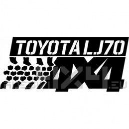 Adesivo Toyota Lj70 4x4