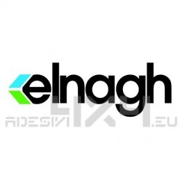 Adesivo camper logo ELNAGH nero-celeste-verde