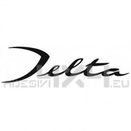 Adesivo lancia scritta Delta