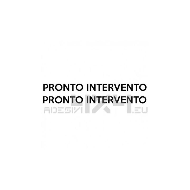 adesivo scritta PRONTO INTERVENTO
