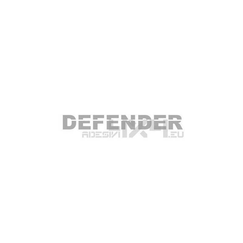 Adesivo defender scritta