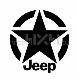 Adesivo stella us army JEEP 30x30cm