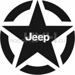 Adesivo stella us army JEEP v2 30x30cm