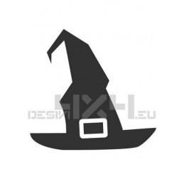 Vetrofania halloween cappello