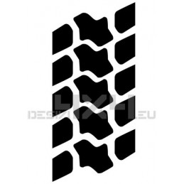 Adesivo impronta pneumatico TRAC L