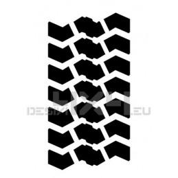 Adesivo impronta pneumatico MAXI L