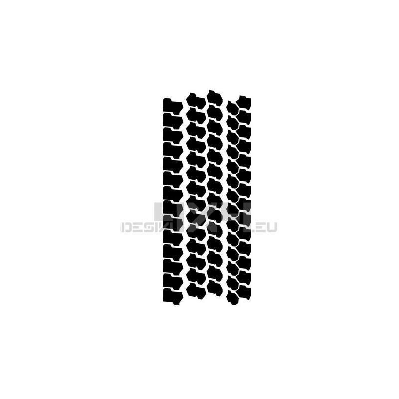 Adesivo impronta pneumatico MUD L