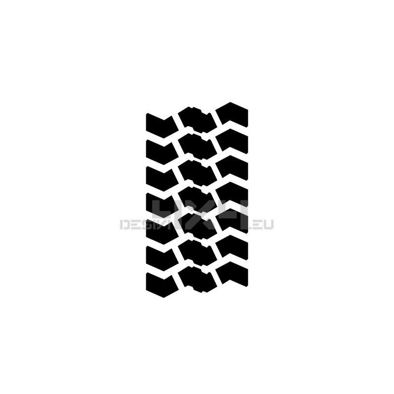 Adesivo impronta pneumatico MAXI XL