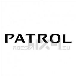 Adesivo nissan patrol scritta