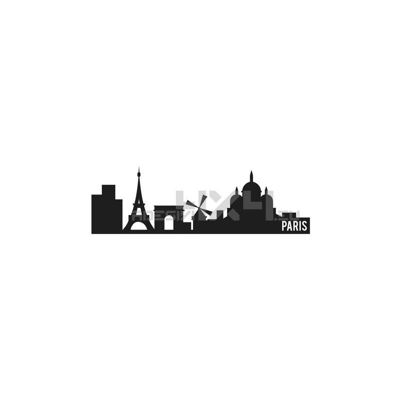 Adesivo skyline parigi