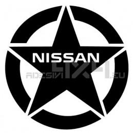 Adesivo stella us army nissan 20x20cm