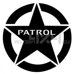 Adesivo stella us army nissan patrol 20x20cm