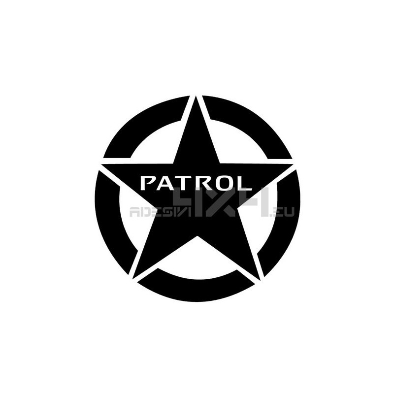Adesivo stella nissan patrol 20x20cm