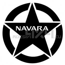 Adesivo stella us army nissan navara 20x20cm
