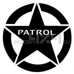 Adesivo stella us army nissan patrol 30x30cm