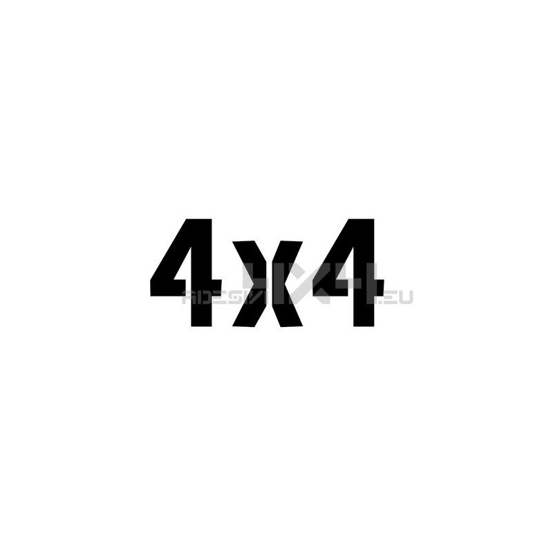 Adesivo scritta 4x4 mod.a