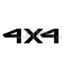 Adesivo scritta 4x4 mod.d