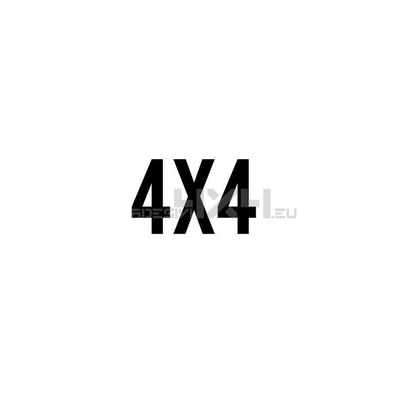 Adesivo scritta 4x4 mod.e