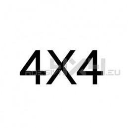 Adesivo scritta 4x4 mod.g