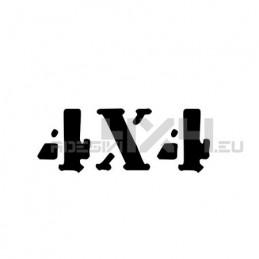 Adesivo scritta 4x4 mod.h