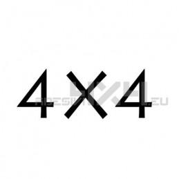Adesivo scritta 4x4 mod.n
