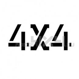 Adesivo scritta 4x4 mod.q