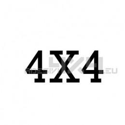 Adesivo scritta 4x4 mod.t