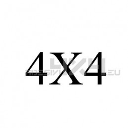 Adesivo scritta 4x4 mod.v