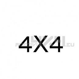 Adesivo scritta 4x4 mod.w