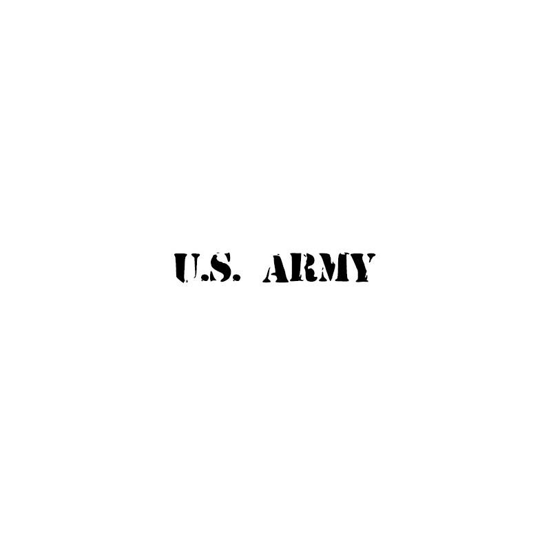 Adesivo u.s. army scritta