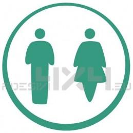 Adesivo segnaletica WC bagno mod.05