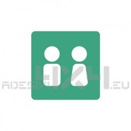 Adesivo segnaletica WC bagno mod.08