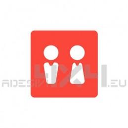 Adesivo segnaletica WC bagno mod.09