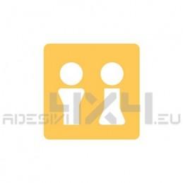 Adesivo segnaletica WC bagno mod.11