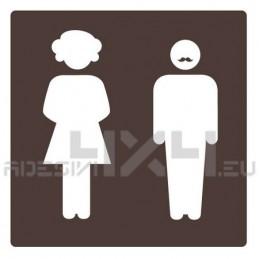 Adesivo segnaletica WC bagno mod.01