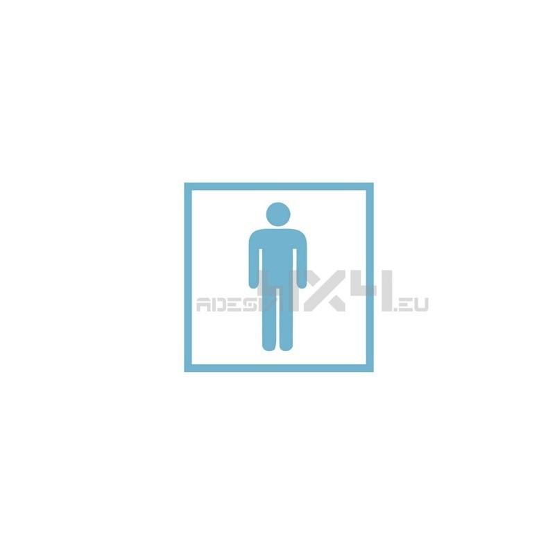 Adesivo segnaletica WC bagno mod.14
