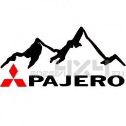 Adesivo 4x4 montagne mitsubishi pajero