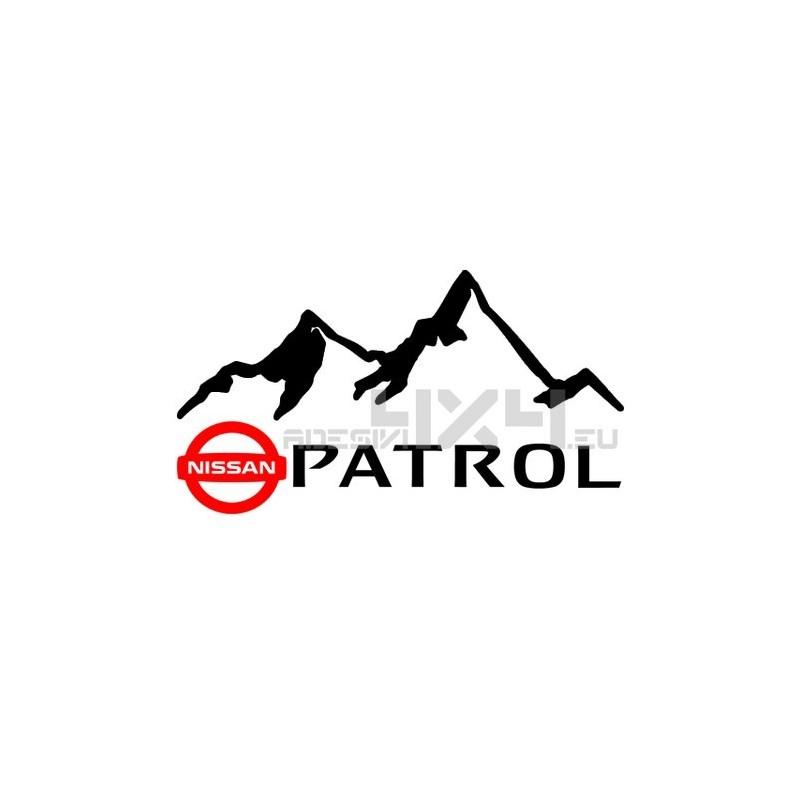 Adesivo 4x4 montagne nissan patrol