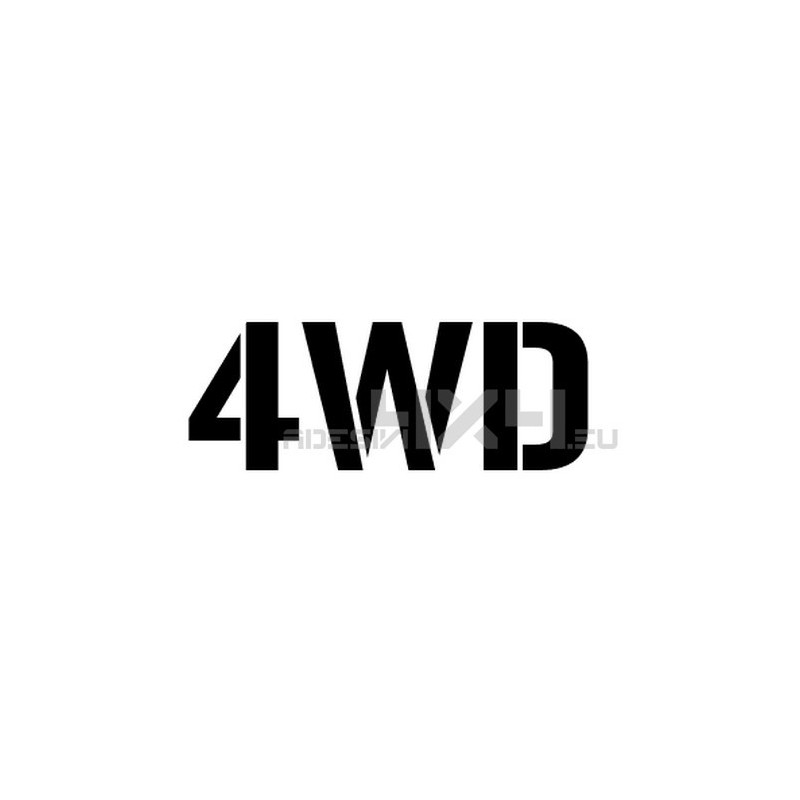 Adesivo scritta 4wd mod.a