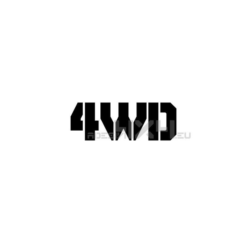 Adesivo scritta 4wd mod.b