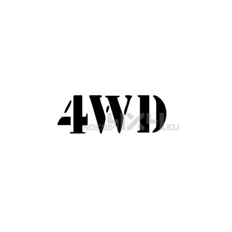 Adesivo scritta 4wd mod.d