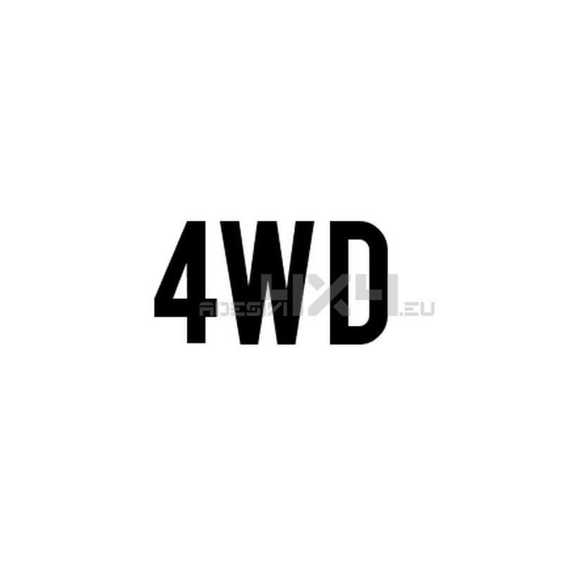 Adesivo scritta 4wd mod.f
