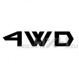 Adesivo scritta 4wd mod.h
